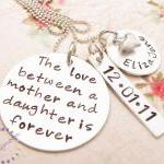 Mommy Necklace, Hand Stamp..