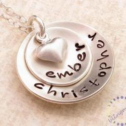 Personalized Necklace . Hand Stamped Jewelry . Custom engraved sterling silver necklace