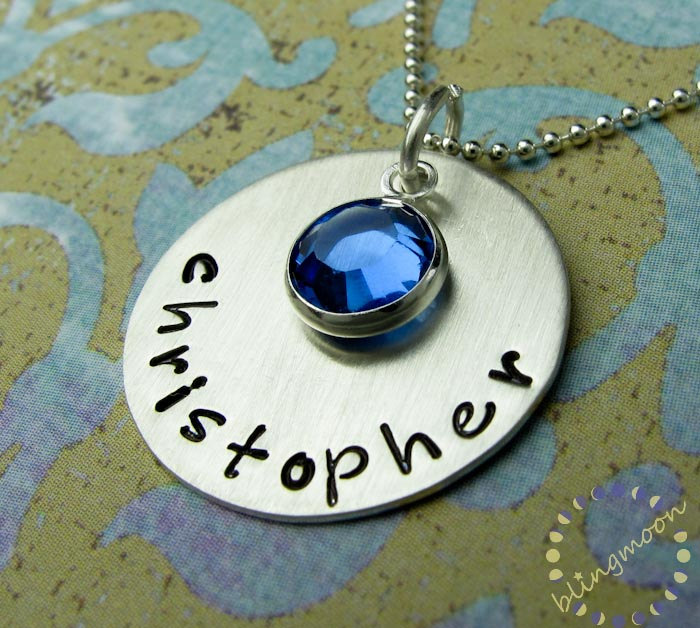 Hand stamped jewelry hand stamped necklace for How do you make hand stamped jewelry